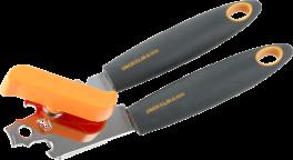 Dåseåbner, grå / orange, SOFT-20