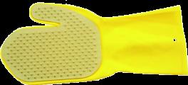 Vaske og børstehandske, gul latex-20