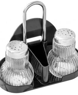 Salt og pebersæt i holder, Fackelmann-20