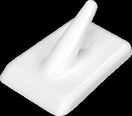 Kroge, rektangulære, 2. stk., hvid, PROBUS-20
