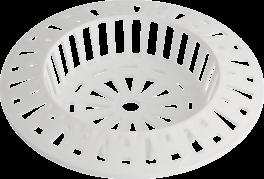 Afløbssi til vask, hvid, PROBUS-20