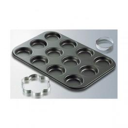 Bageplade til 12 stk petittærter, Zenker-20