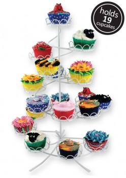 Opsats til cupcakes, 19 stk, hvid-20