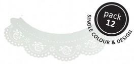 White Rose Cupcake pyntebort Pk/12-20