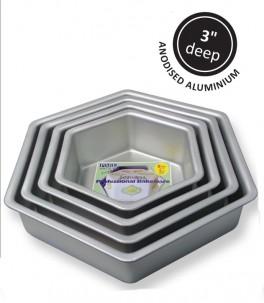 Kageform 25,4 cm, sekskantet, PME-20