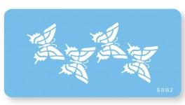 Skabelon, motiv, sommerfugle.-20
