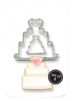 Kageudstikker, bryllups-kage, 2 stk., PME-20