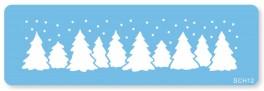 Skabelon, motiv, juletræer-20