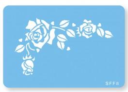 Skabelon, motiv, romantisk rose.-20