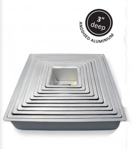 Kageform dyb 25,4 x 25,4 cm, kvadratisk, PME-20