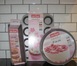 Bagesæt, spring-, brød og muffinform, Candy-20