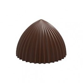 Chokoladeform. Flødebolle, Plissé. Lille. 10 stk.