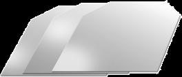 Drypfri hældetud i sølvlook, 3 stk.-20