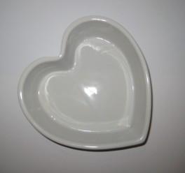 Hjerteskål i porcelæn