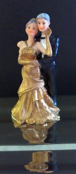 Topfigur. Guldbryllupspar. 9,5 cm