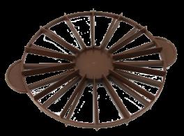 Kagedeler, vendbar til 14 eller 16 stykker, brun-20