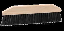 Melbørste i træ og med børster i naturmateriale.-20