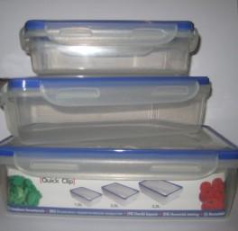 Plastbokse med låg 3 stk.-20