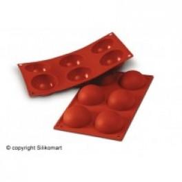 BageChokoladeformHalvkugle6stk60mmD30Platinsilikone-20