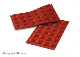 Bage-/Chokoladeform, Halvkugle, Ø 30 mm., D 15, Platinsilikone-20
