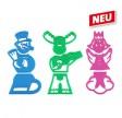 Udstiksforme til børn med 3 forskellige figurer, Dr. Oetker