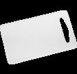 Skærebræt, 24 x 14 cm, hvid, LLDPE