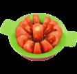 Tomat -/æbledeler, lime / lilla