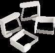 Dugholder, hvid, 4 stk., PROBUS