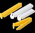 Poselukkere, gul og hvid, 4 stk., PROBUS