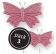 Pink Butterfly (2S, 1L) on Plastic Wire (3/Pk)