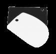 Dejskraber, afrundet, 2 stk, sort og hvid