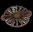 Kagedeler, vendbar til 14 eller 16 stykker, brun
