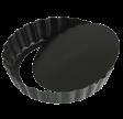 Tærtefad, Ø 13 cm, sort