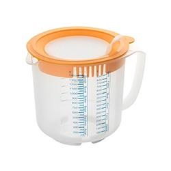 Måle- og røreskål med låg, 1,4 liter, Dr. Oetker