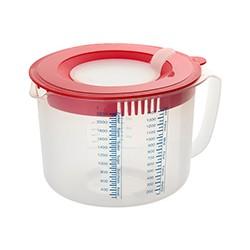 Måle- og røreskål med låg, 2,2 liter, Dr. Oetker