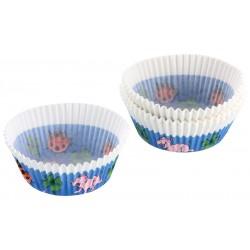 Muffinsforme, 50 stk., Blå/hvid og rød/hvid