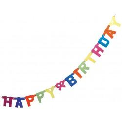 Guirlande Happy Birthday 1,5m