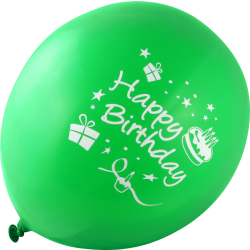 "Balloner latex alm. form "" HAPPY BIRTHDAY"" blandede farver ca. 30 cm 8 stk."