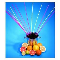 """Sugerør """"de lange"""" til fælles drink, 750mm neon farver 40 stk."""