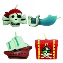 Kagelys, pirater, 4 stk.