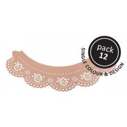 Pink Rose Cupcake pyntebort Pk/12