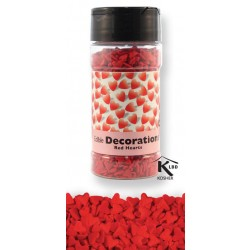Sukkerpynt - Røde hjerter