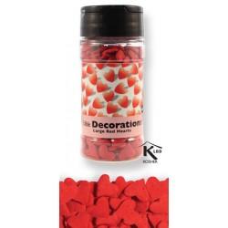 Sukkerpynt - Store røde hjerter