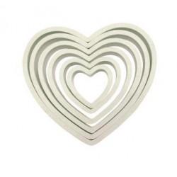 PME Heart Cutters Set/6