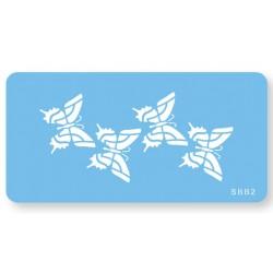 Skabelon, motiv, sommerfugle.