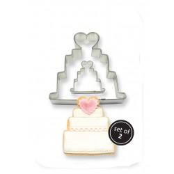 Kageudstikker, bryllups-kage, 2 stk., PME
