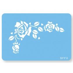 Skabelon, motiv, romantisk rose.