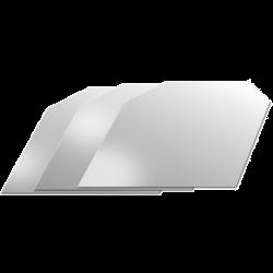 Drypfri hældetud i sølvlook, 3 stk.