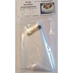 Engangssprøjteposer, XL, 10 stk, Fackelmann