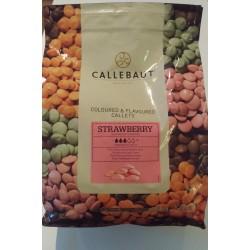 Chokolade, Strawberry Callets, Callebaut, 500g.